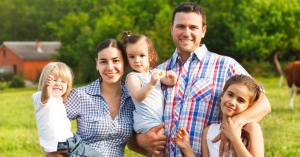 Family at Galt, California