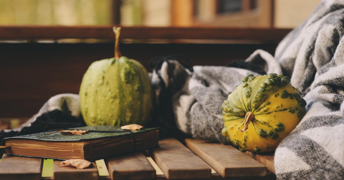 Fall pumpkin decoration